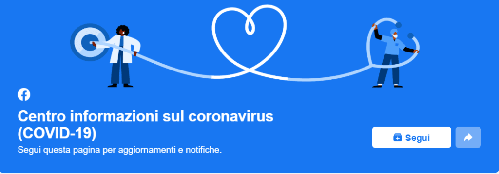 facebook centro informazioni coronavirus